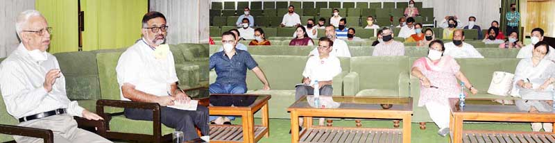 Advocate General D C Raina interacting with Law Officers at Jammu.