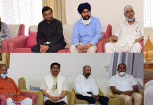 Lt Governor meeting with delegations at Jammu on Friday.