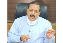 Union Minister Dr Jitendra Singh speaking to media at New Delhi.