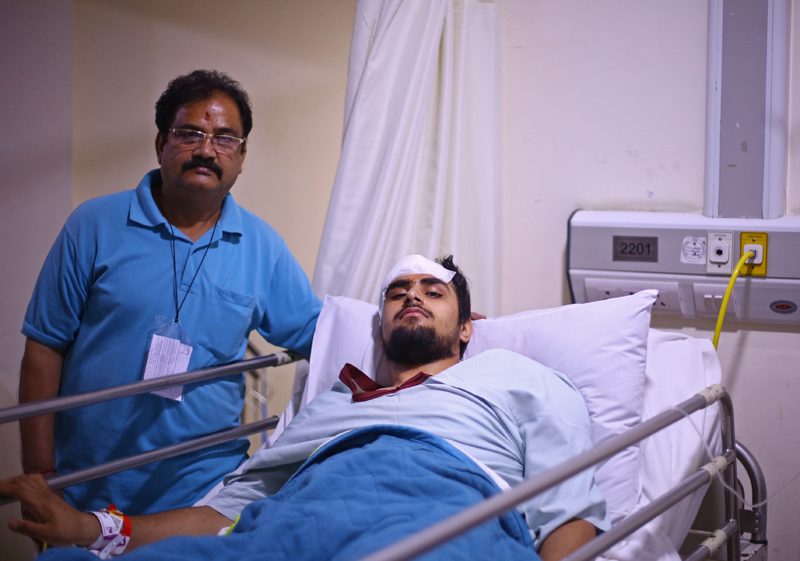 Brain Tumour patient recovering after successful surgery at Apollo Hospital in Delhi.