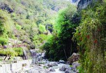 Ban Ganga rivulet flowing in Katra town. -Excelsior/ Romesh Mengi