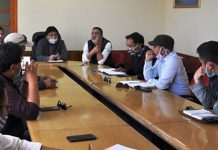 CEC Leh chairing a meeting on Wednesday.