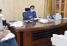 Commissioner Secretary JSD, Ajeet Sahu chairing a meeting on Thursday.