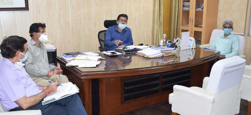 Commissioner Secretary JSD, Ajeet Sahu chairing a meeting on Thursday.