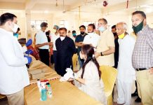Medical camp organised by ISM in Nanak Nagar on request by former Dy CM Kavinder Gupta on Sunday.