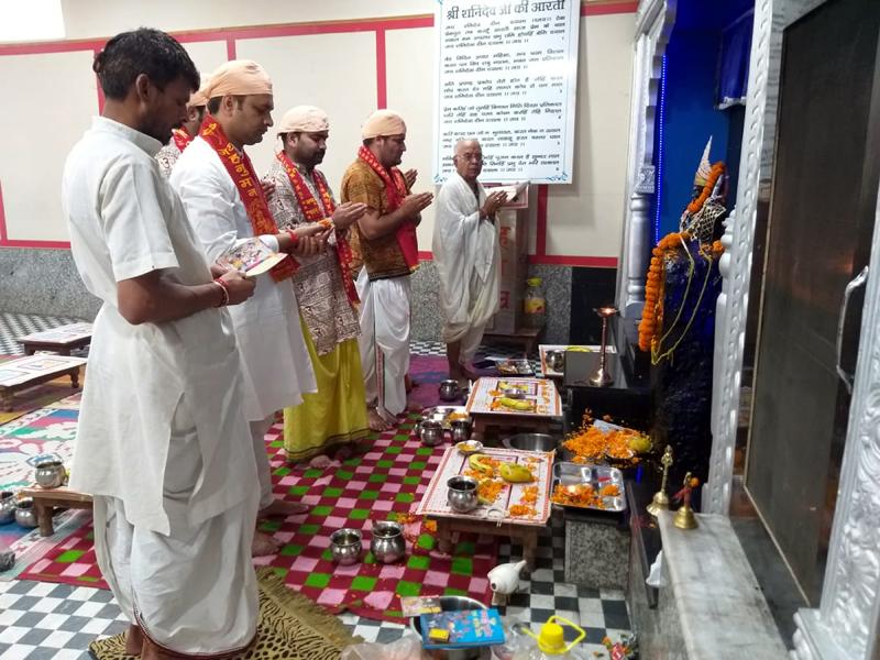 Shani Jayanti being celebrated at Yatri Bhawan Haridwar on Friday.