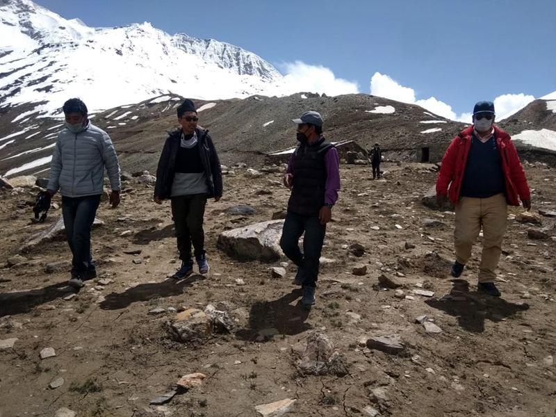 MP JTN during visit to Zanskar on Thursday.