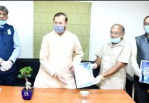 Research Report of PHD Chamber of Commerce & Industry being presented to Union Minister Prakash Javadekar on Sunday.
