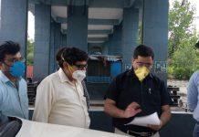 Excise Commissioner Rajesh Kumar Shavan during visit to Lakhanpur.