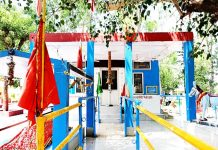 Holy Shrine of Baba Chamliyal in Ramgarh sector locked from outside. -Excelsior/ Badyal