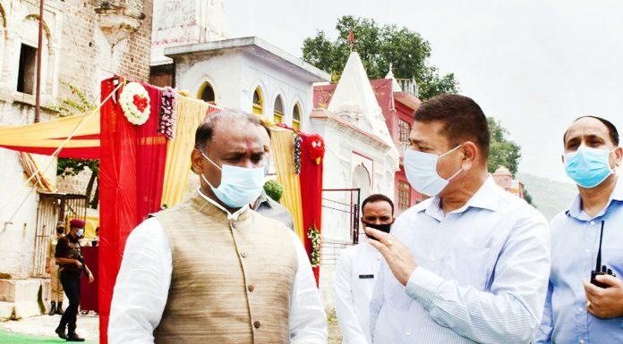 Lieutenant Governor Girish Chandra Murmu during visit to Purmandal on Tuesday.