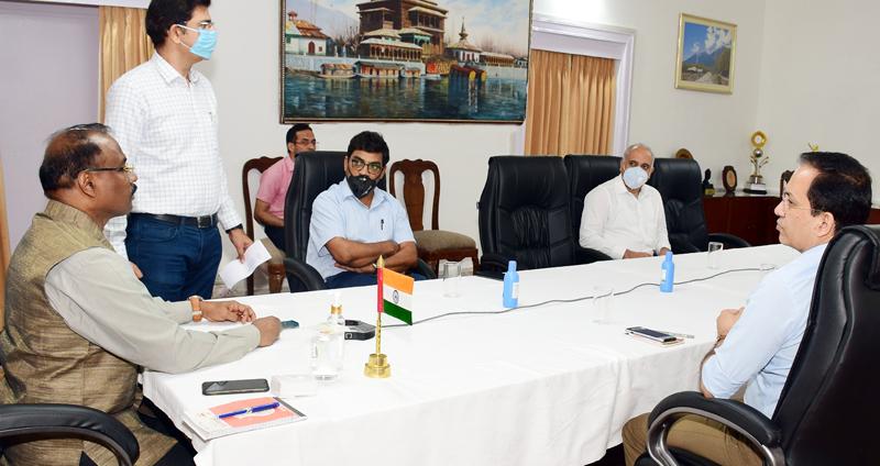 Lieutenant Governor Girish Chandra Murmu launching 'MeraVetan' App in Jammu on Wednesday.