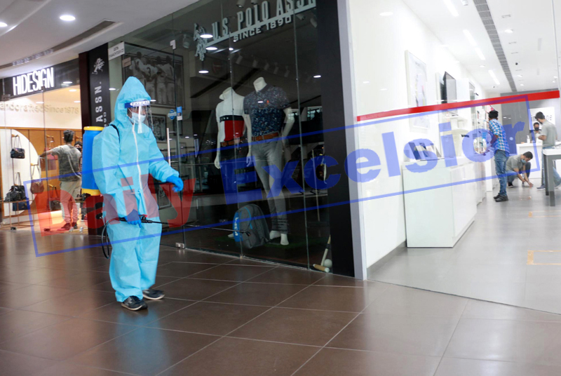 View of a showroom which opened in Wave Mall of Jammu on Monday. -Excelsior/Rakesh