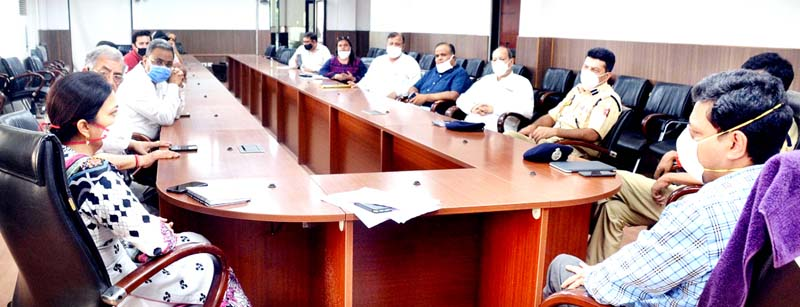 Divisional Commissioner Sanjeev Verma chairing a meeting in Jammu on Monday.