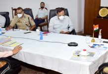 Lieutenant Governor, Girish Chandra Murmu chairing a meeting on Wednesday.