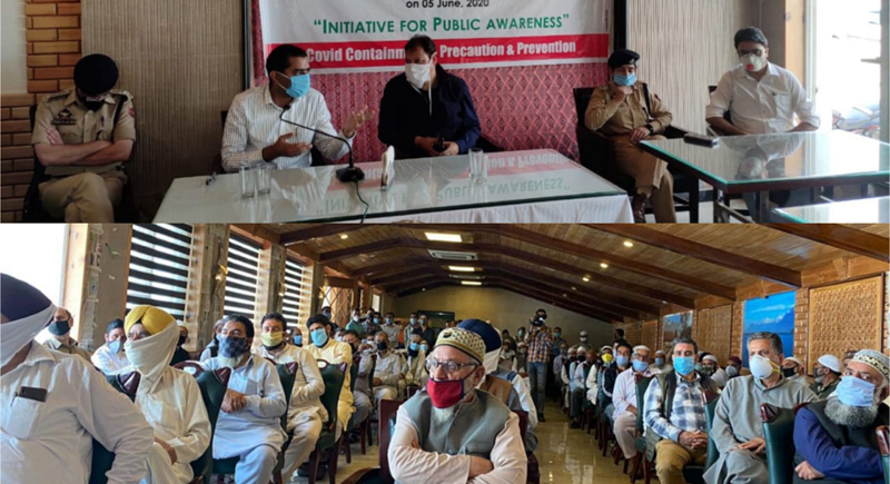 DC Shahid Iqbal Choudhary speaking during a conference at Srinagar.