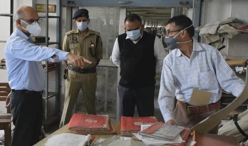 Advisor KK Sharma during visit to Central Record Room.