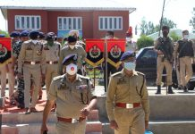 DGP Dilbag Singh during visit to district Kulgam.