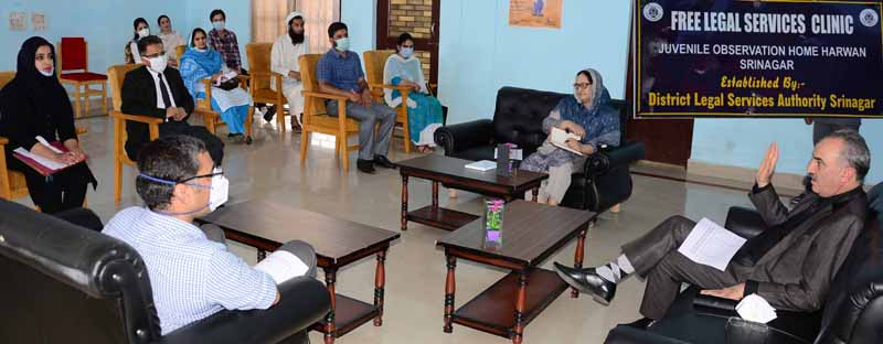 Justice Ali Mohd Magrey during visit to Juvenile Observation Home at Harwan.