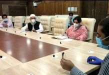 DC Srinagar chairing a meeting on Wednesday.