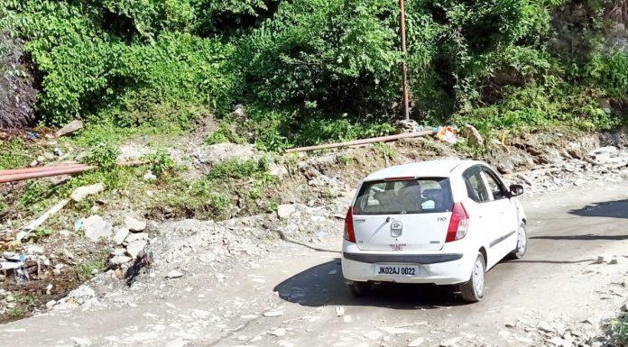 Self speaking condition of Thathri-Kilotran road in Doda district. -Excelsior/ Rafi Choudhary