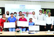NHPC felicitating meritorious sportspersons under its scholarship scheme.