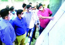 Secretary YS&S, Sarmad Hafeez inspecting ongoing works of playfied at Bijbehara.
