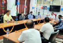 Additional Commissioner CGST and others attending the function to celebrate GST Day at Jammu on Wednesday.