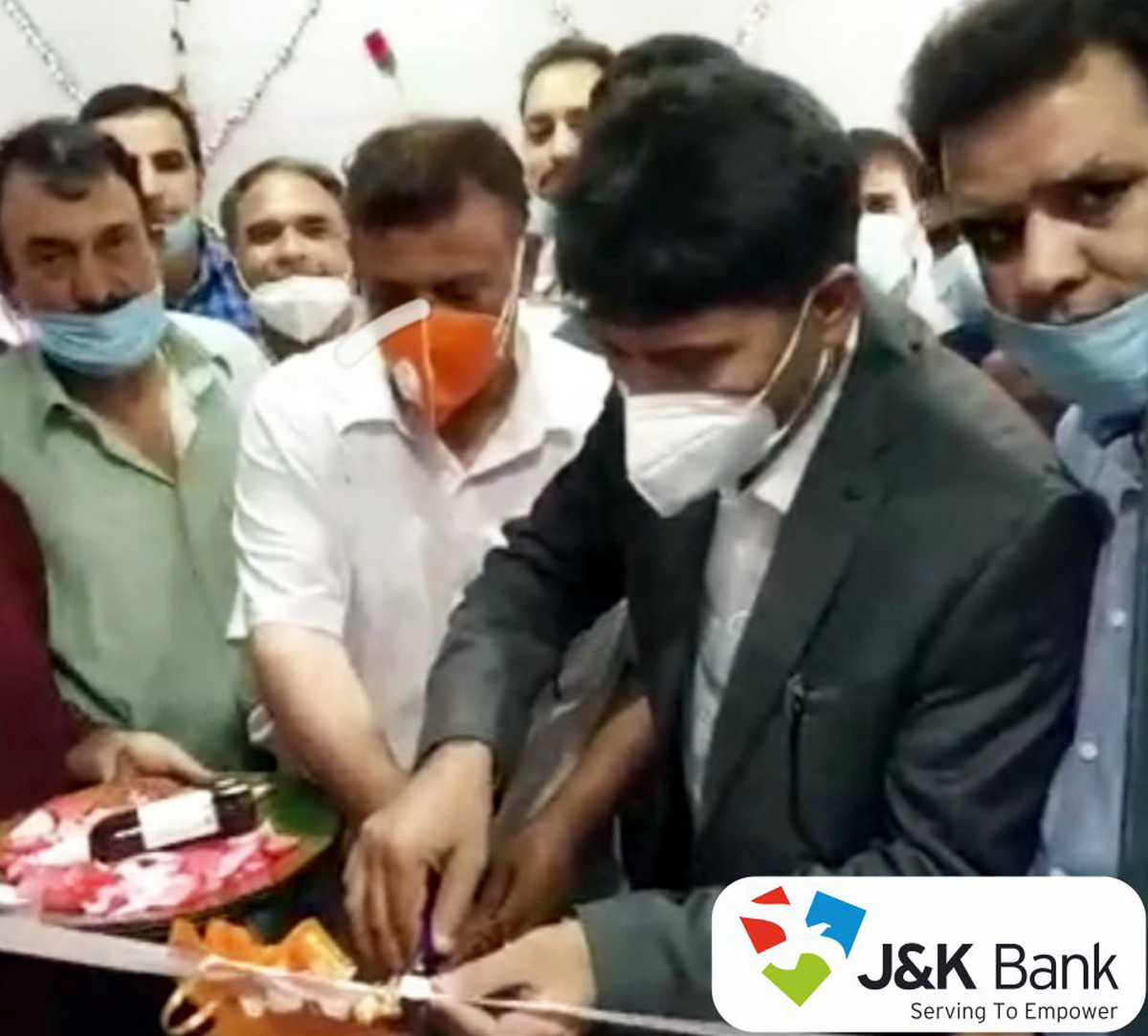JKB ATM being inaugurated at Tarigam in Kulgam.