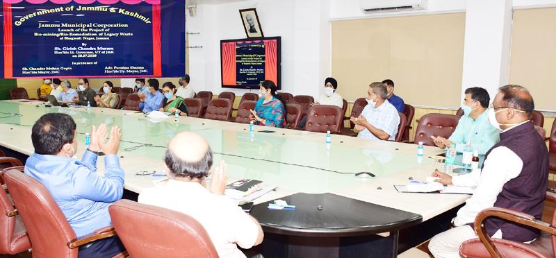 Lt Governor E-inaugurating development projects of JMC Jammu.