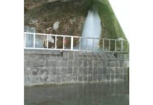 Latest picture of holy Ice Lingam of Lord Shiva at Shri Amarnath Ji shrine in South Kashmir Himalayas.