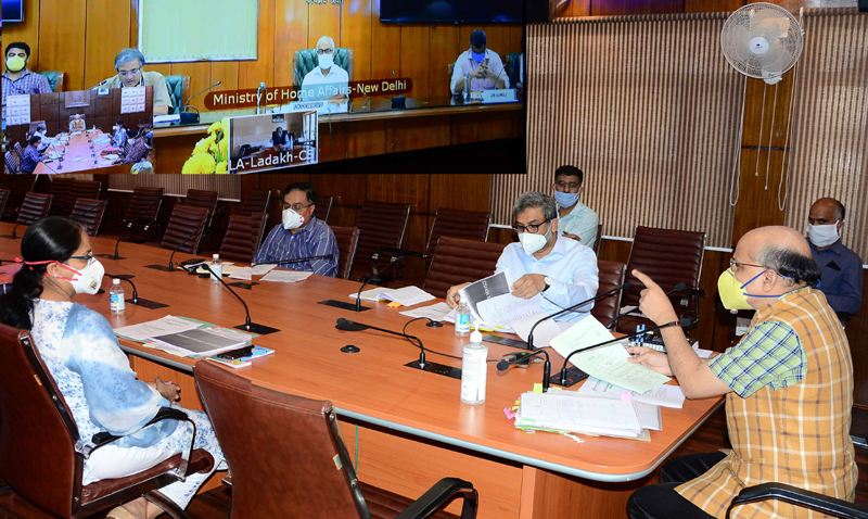 Home Secretary Ajay Kumar Bhalla holding Cadre Review meeting with J&K officers on Tuesday.