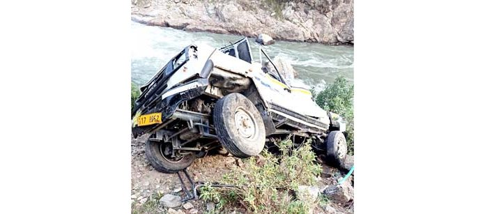 Ill fated vehicle after accident. -Excelsior/Tilak Raj