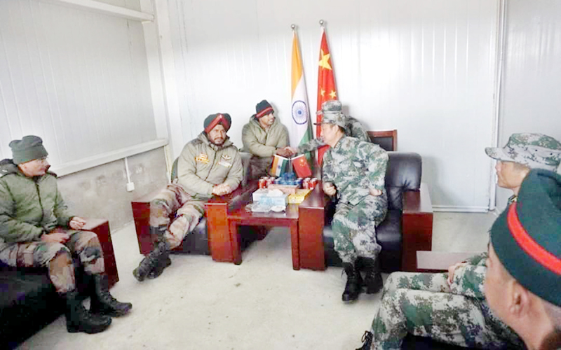 India and China military officials holding third round of talks on Tuesday.