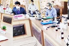 Lt Governor interacting with public delegations at Bandipora on Tuesday.
