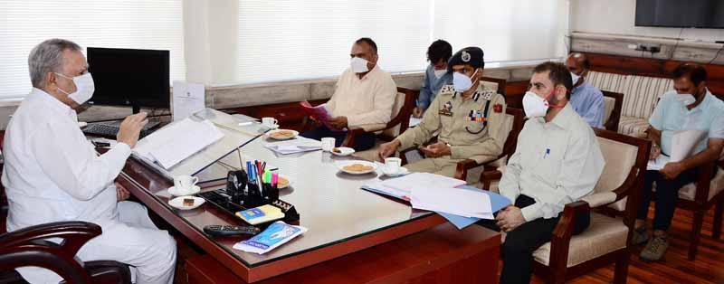 Advisor to Governor, Farooq Khan chairing a meeting on Monday.