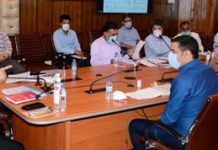 Advisor to Lieutenant Governor, Baseer Ahmad Khan chairing a meeting on Wednesday.