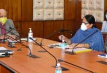Chief Secretary, B V R Subrahmanyam chairing a meeting on Wednesday.