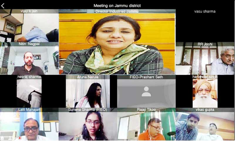 Director, I&C Jammu, Anoo Malhotra and other stakeholders attending a webinar in Jammu.