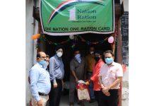 Director FCS&CA Jammu Jatinder Singh inaugurating a Fair Price Shop under 'One Nation One Ration Card' scheme on Saturday.