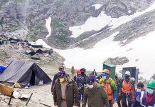 Advisor and DGP reviewing arrangements for Amarnath Yatra.
