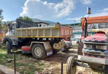 Vehicles seized for indulging in illegal mining.