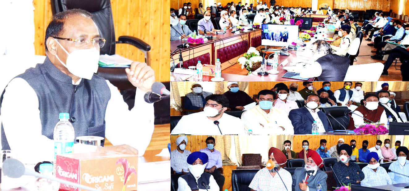 LG GC Murmu interacting with public delegations on Tuesday.