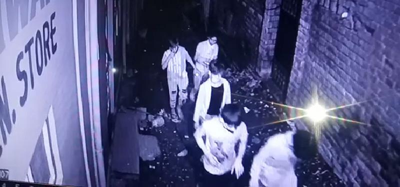 Burglars seen in CCTV camera at Shakti Nagar Udhampur.