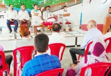 AJKPC members at a meeting in Ramban on Tuesday.