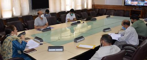 RDD Secretary Sheetal Nanda chairing meeting on Wednesday.