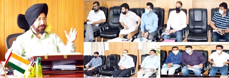 DDC Kishtwar R S Tara chairs meeting regarding preparation of People's Biodiversity Register.
