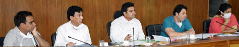 DC Udhampur Dr Piyush Singla reviewing the working of RDD on Wednesday.