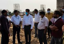 Divisional Commissioner Jammu Sanjeev Verma inspecting work on Ring Road.