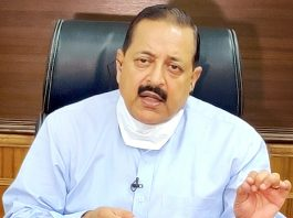 Union Minister Dr Jitendra Singh briefing about recent DoPT reforms, at New Delhi on Friday.